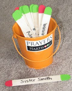 prayer bucket Names from a hat