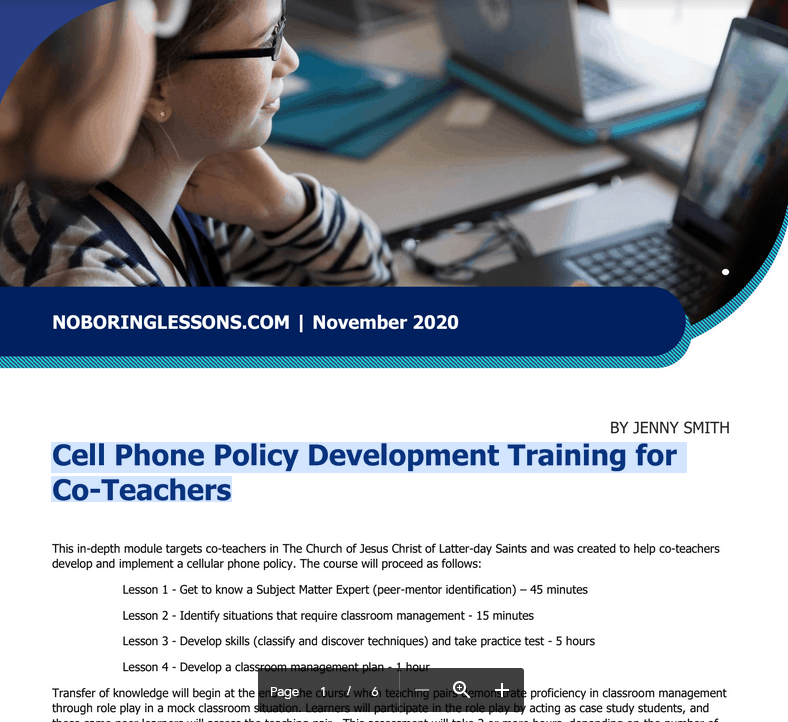 cellphonepolicytrainingcoteachers Cellular Phone Policy and Implementation Training Main